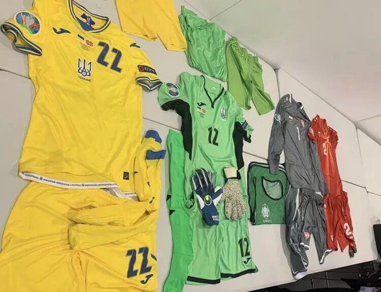 Украина сыграет в домашнем комплекте формы.