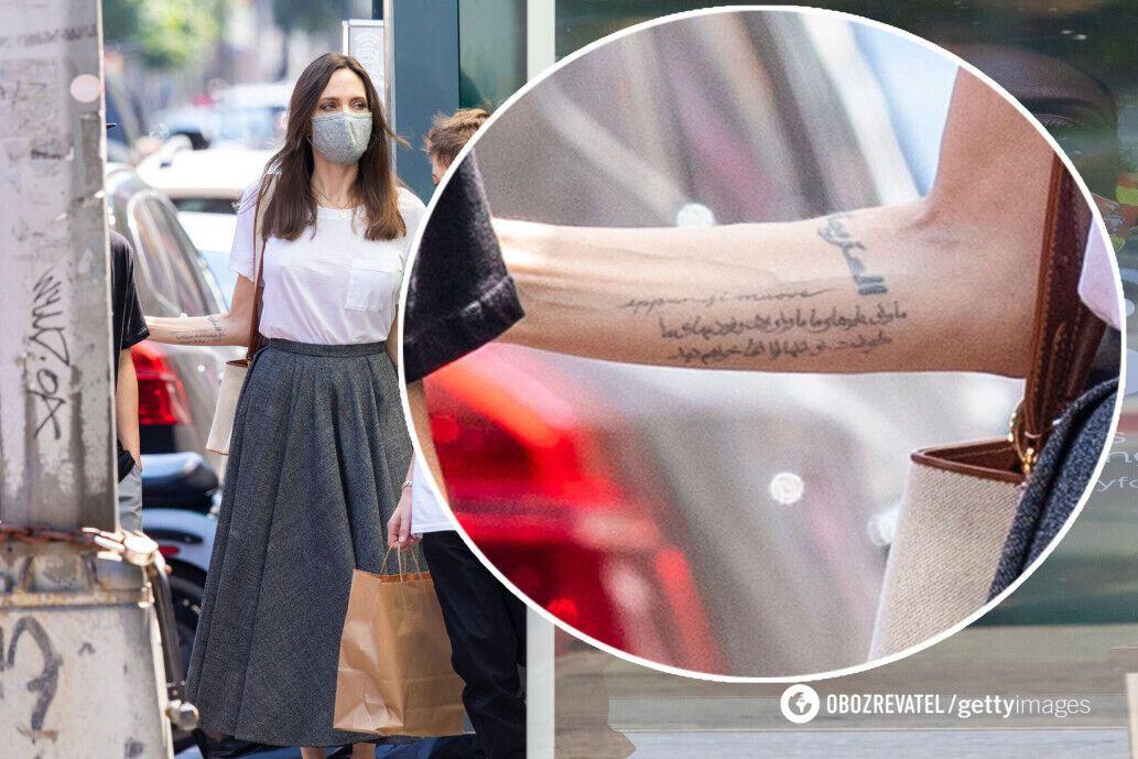 Анджелина Джоли засветилась с новой татуировкой