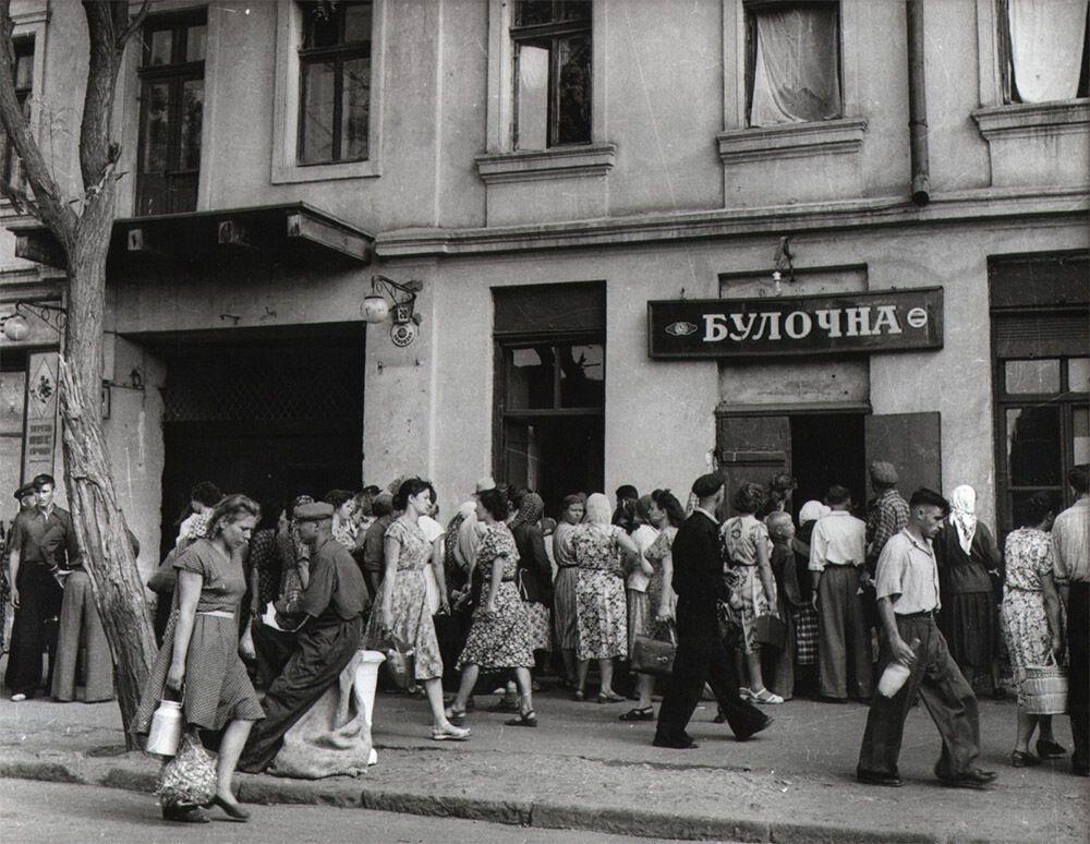 """""""Очередь в булочную"""", Одесса, 1963 год"""