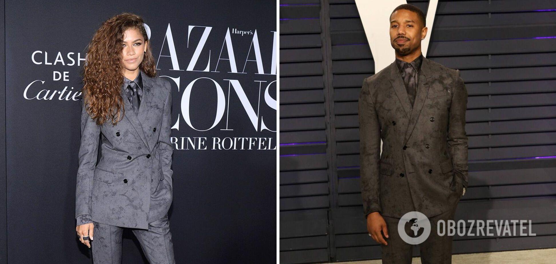 Зендая и Майкл Джордан на мероприятии были в одинаковых классических костюмах.