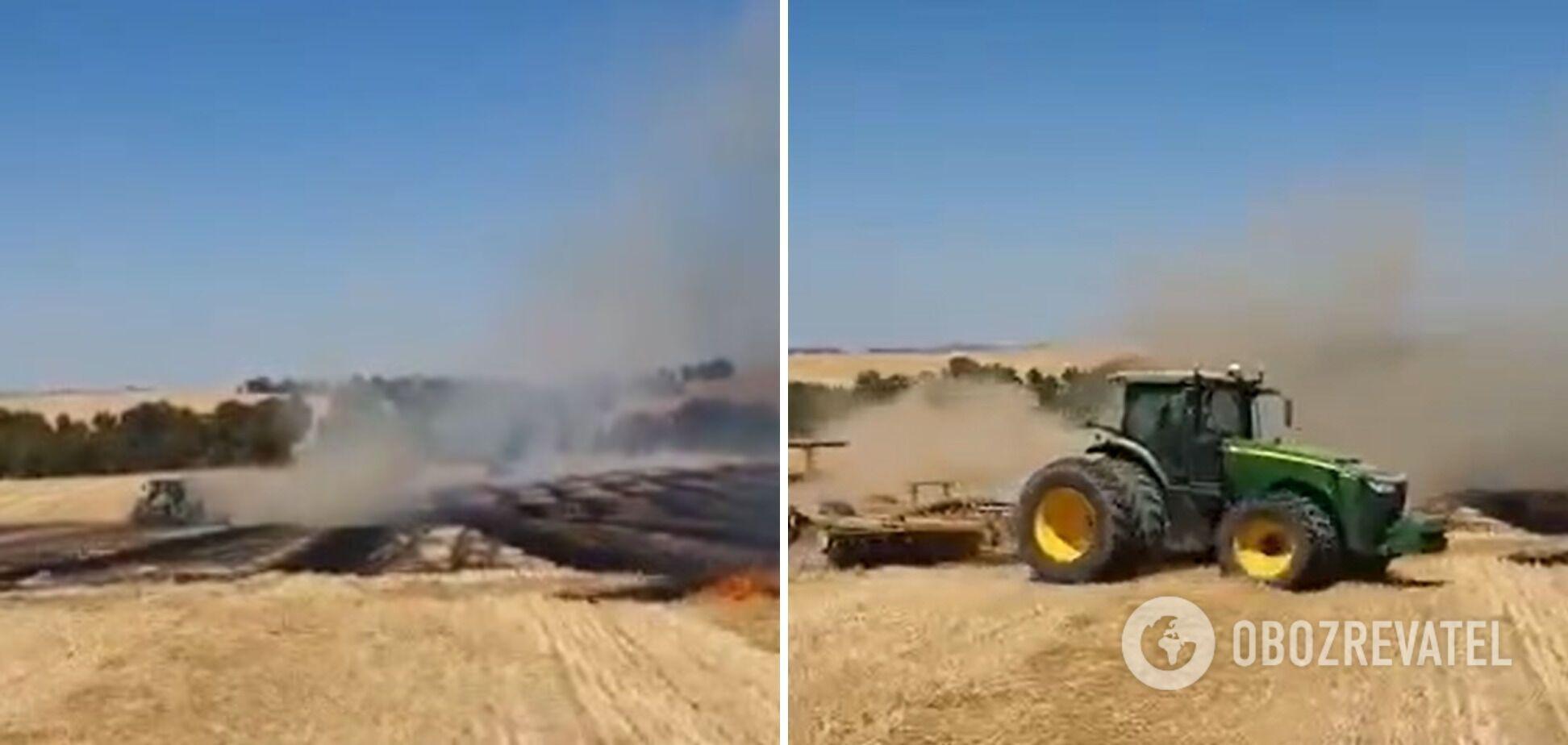 В результате атаки воздушными шарами было сожжено более 12,1 гектара земли в районе Эшколь Израиля