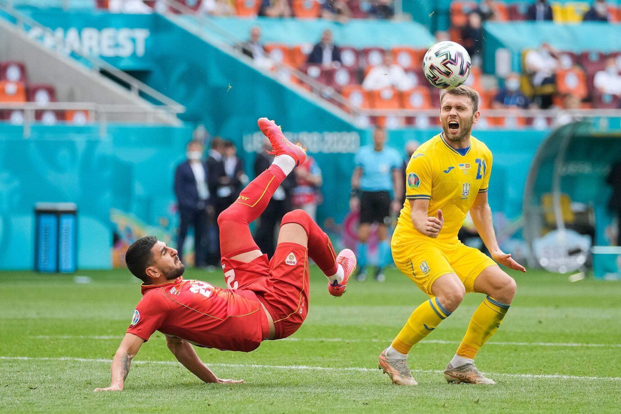 Олександр Караваєв відзначився гольовою передачею в матчі з македонцями