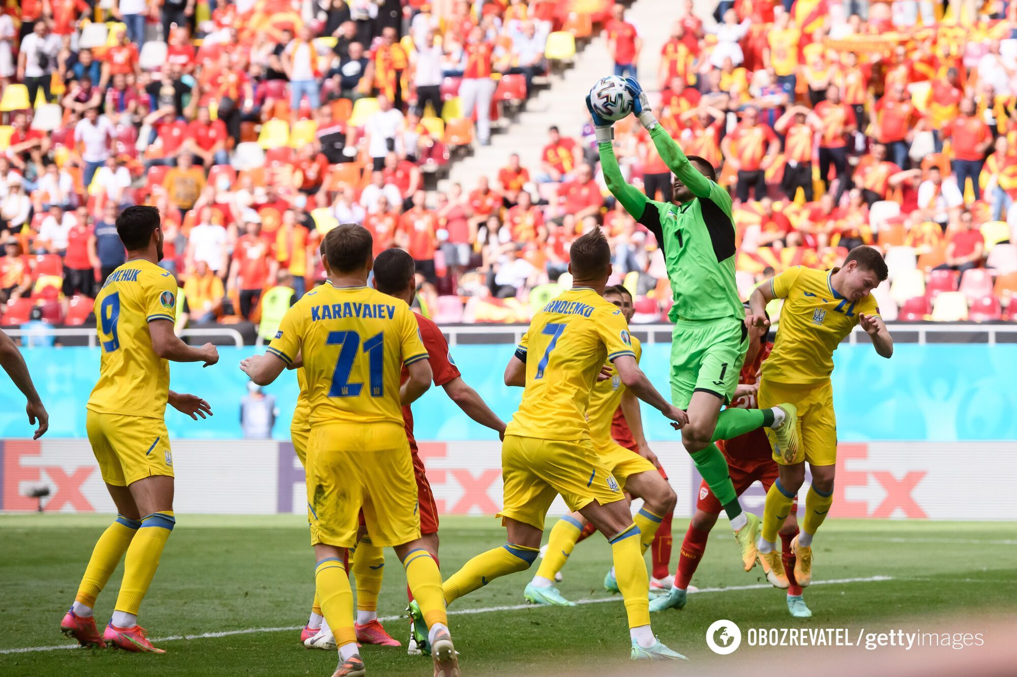 Украина добыла первую победу на Евро-2020 в матче с македонцами.