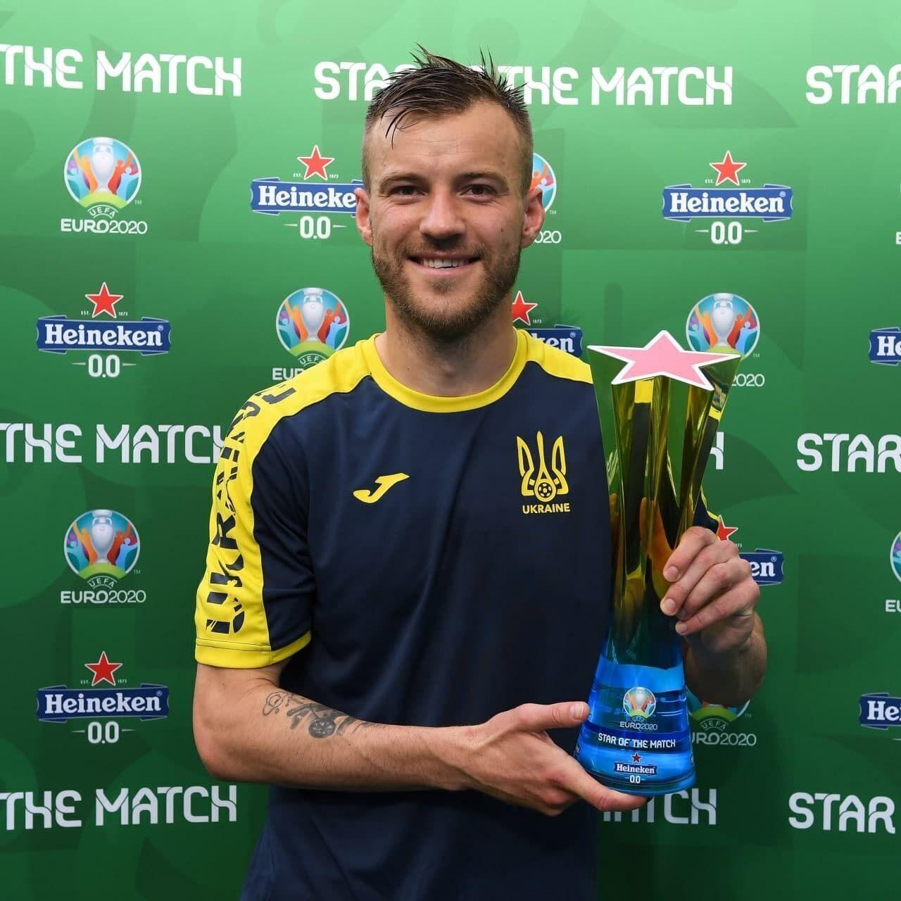 Андрей Ярмоленко – лучший игрок матча с македонцами