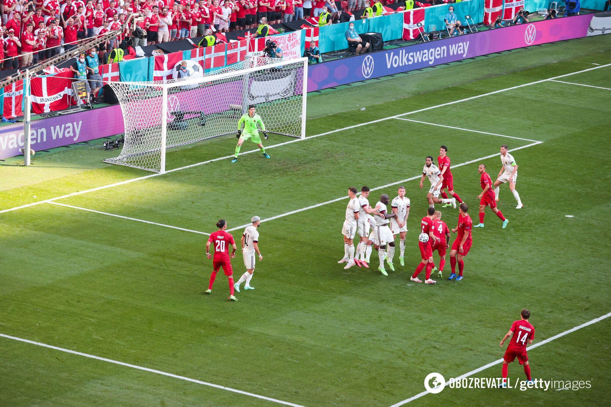 Бельгия победила Данию