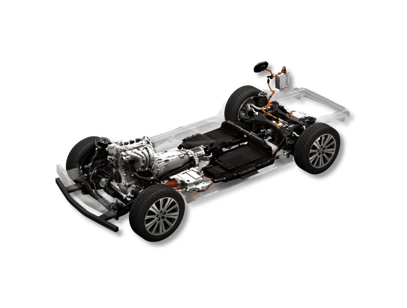 Нова модельна платформа Skyactiv дозволяє будувати автомобілі з ДВС, гібриди, PHEV та електромобілі