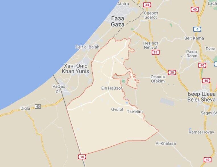 В результате атак в районе Эшколь возникли четыре пожара