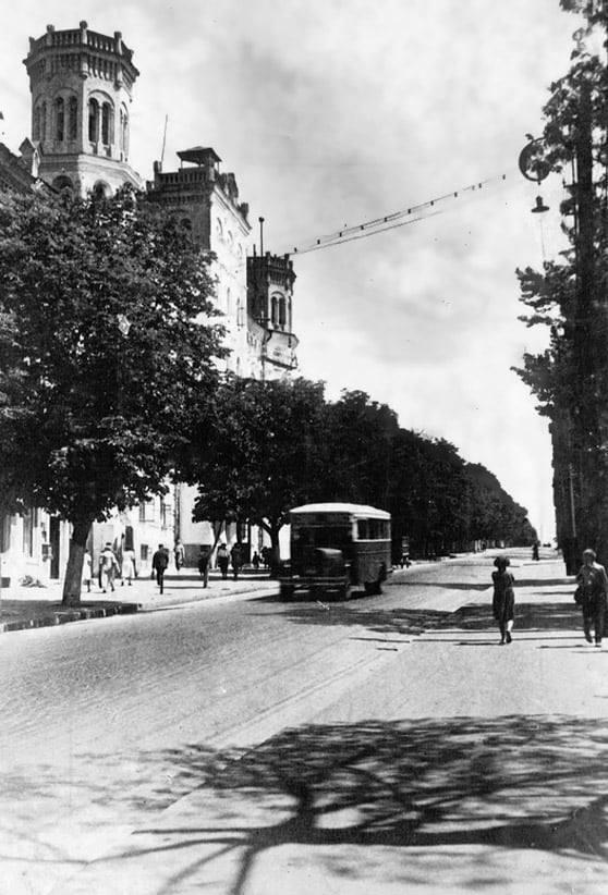 Бульвар Тараса Шевченка в 1930-ті роки.
