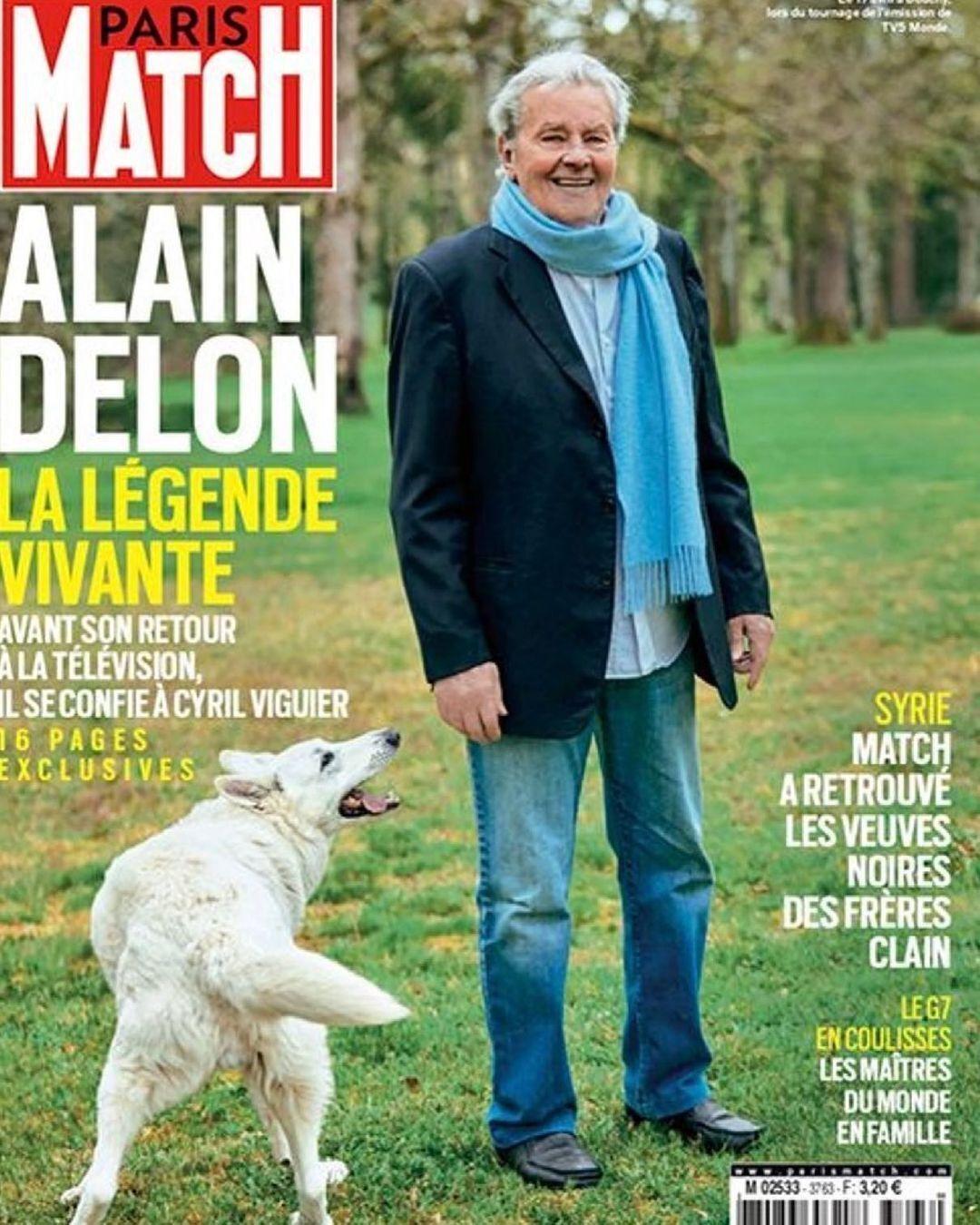 Ален Делон на обложке журнала Paris Match