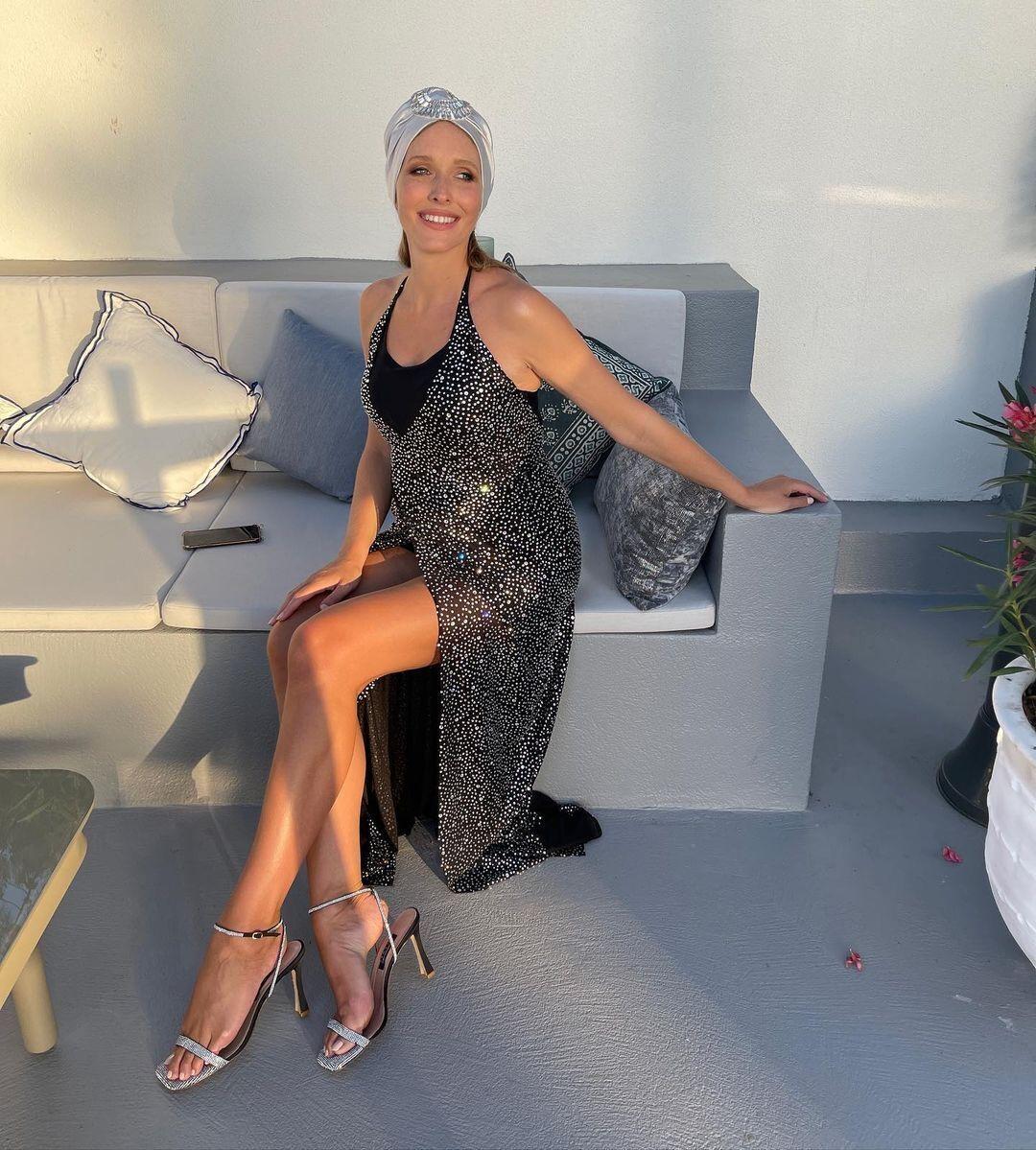 Катерина Осадча в елегантній сукні