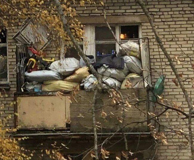 В СРСР зберігали лахміття на балконі