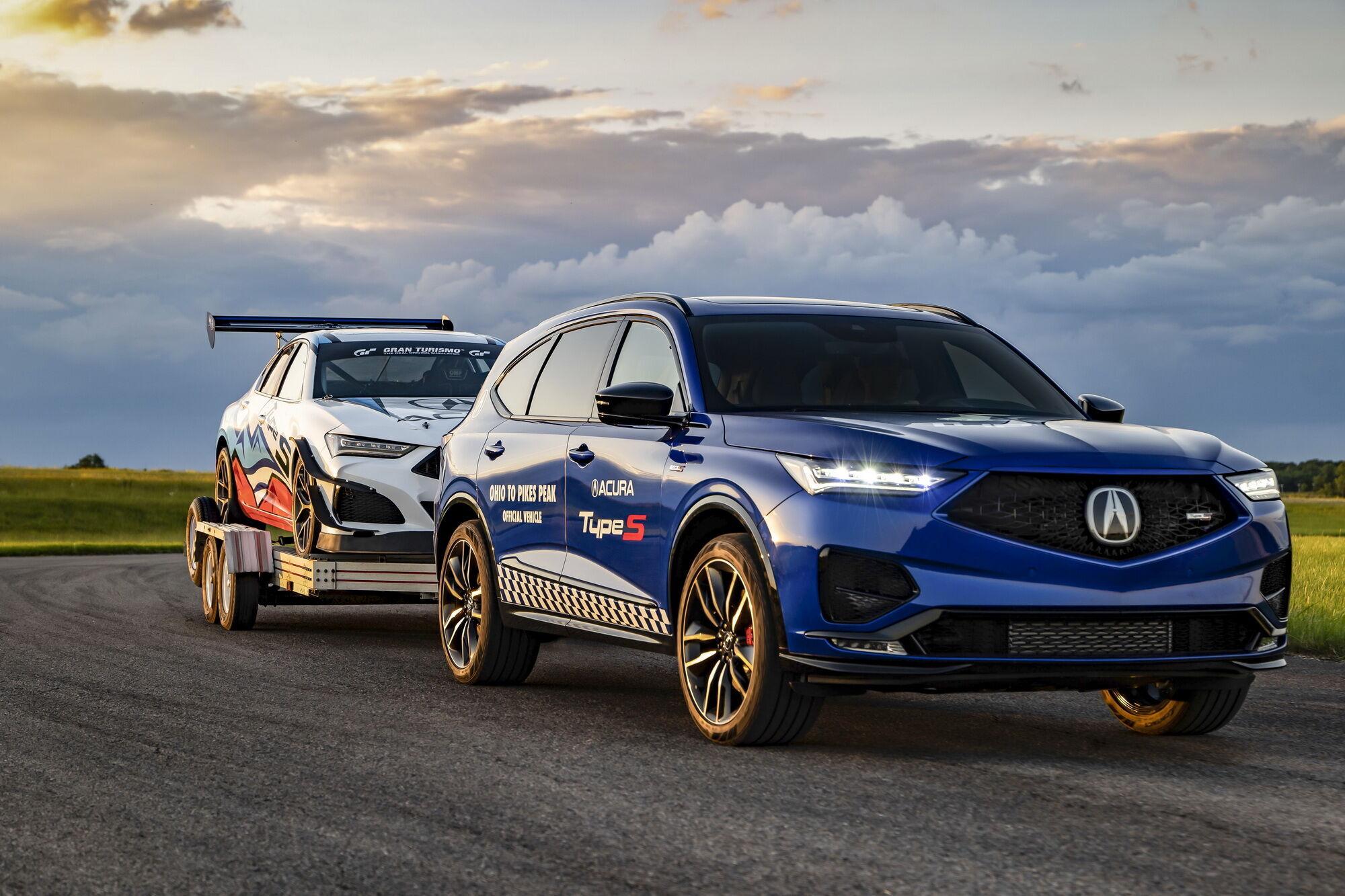 MDX Type S отвели роль тягача для буксировки гоночных машин