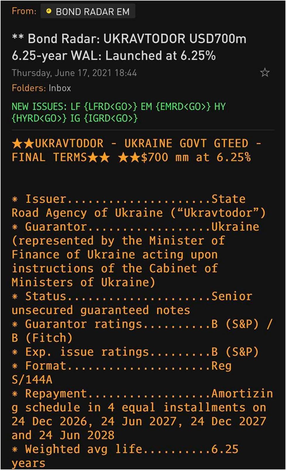 Укравтодор розмістив на Лондонській біржі $700 млн для оновлення доріг України, – Кубраков
