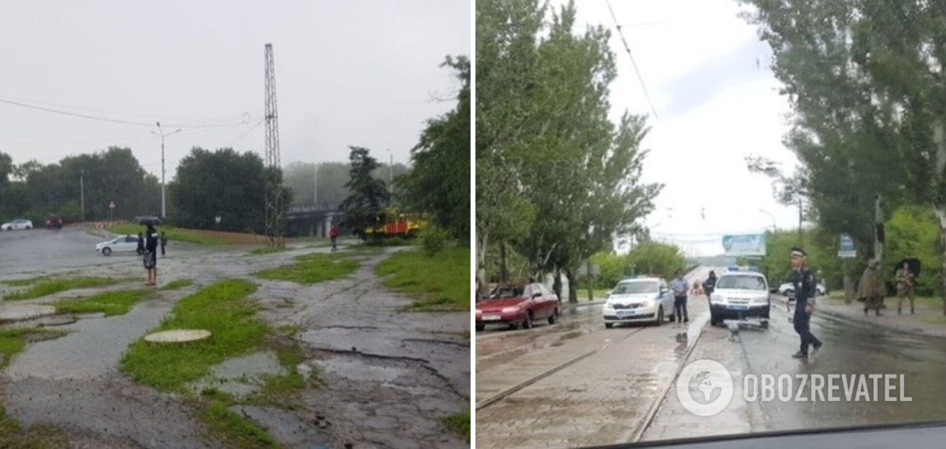 Дорога рядом с местом ЧП была оцеплена