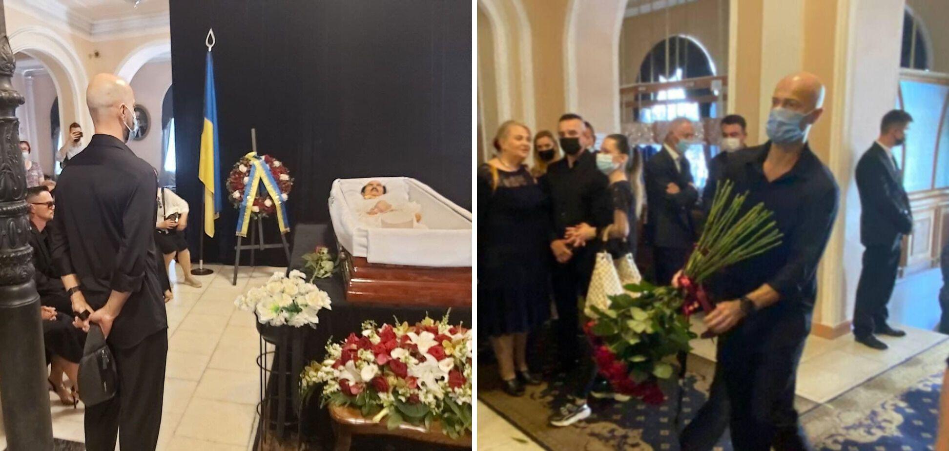 Влад Яма на церемонії прощання з Григорієм Чапкісом
