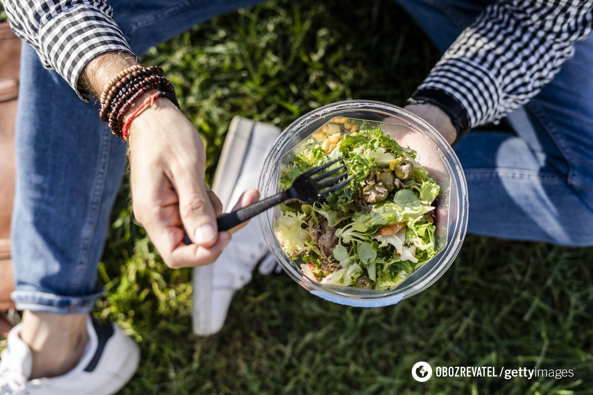 Літній салат із рибою