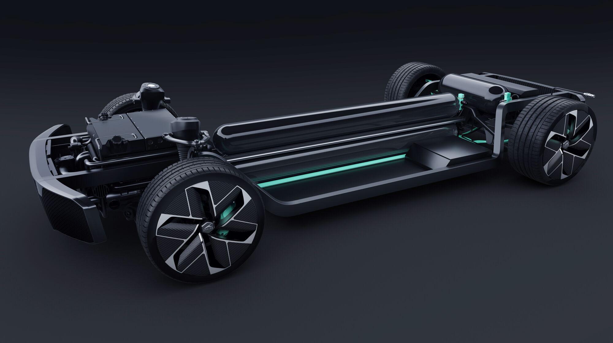 Поставлять баллоны для хранения водорода под давлением 700 бар для будущей серийной модели будет бельгийская компания Plastic Omnium