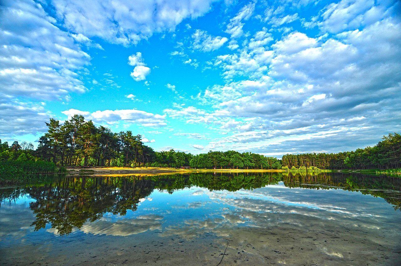 Озеро в парке Партизанской славы.