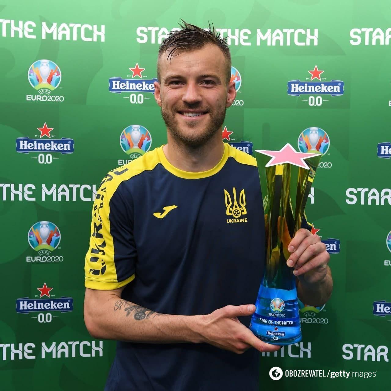 Андрій Ярмоленко – кращий гравець матчу з македонцями
