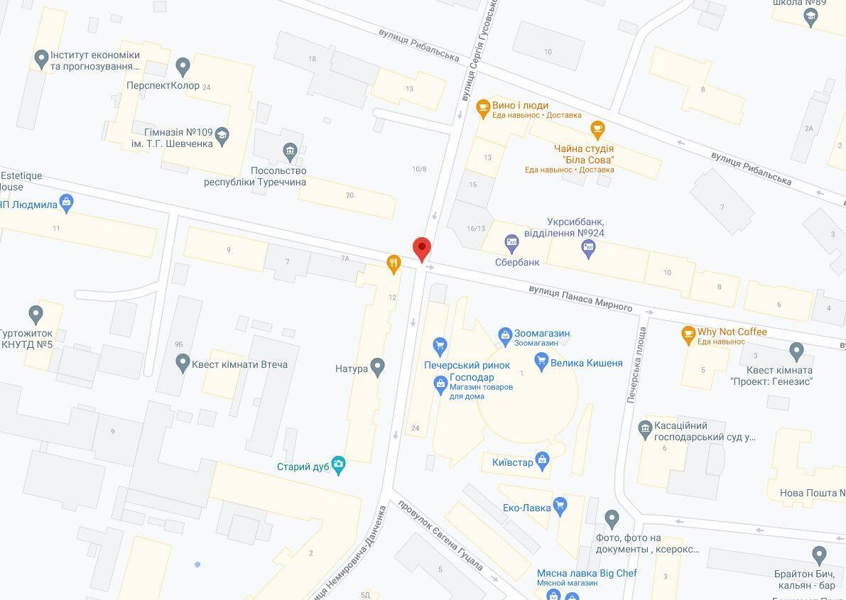 Инцидент произошел в Печерском районе столицы.