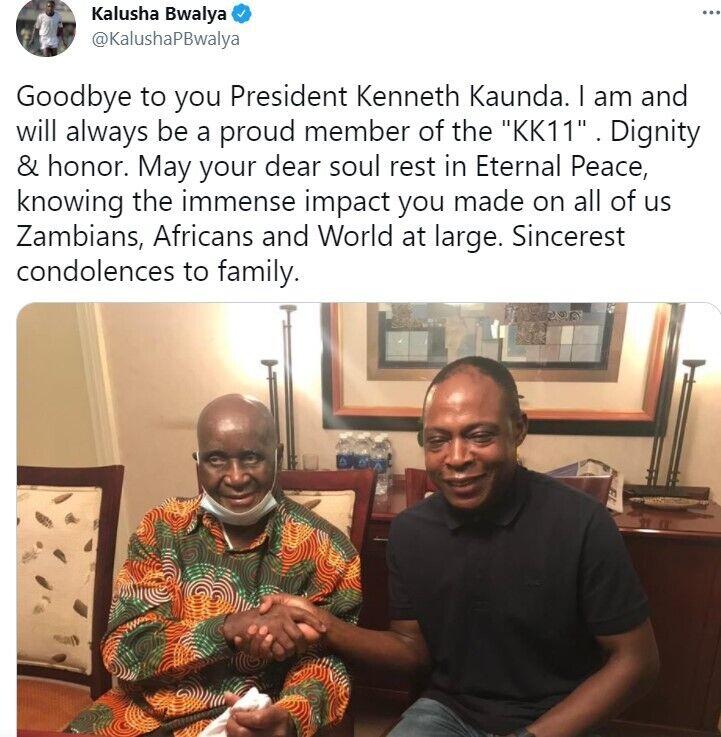 Экс-футболист из Замбии оставил пост о смерти Каунды