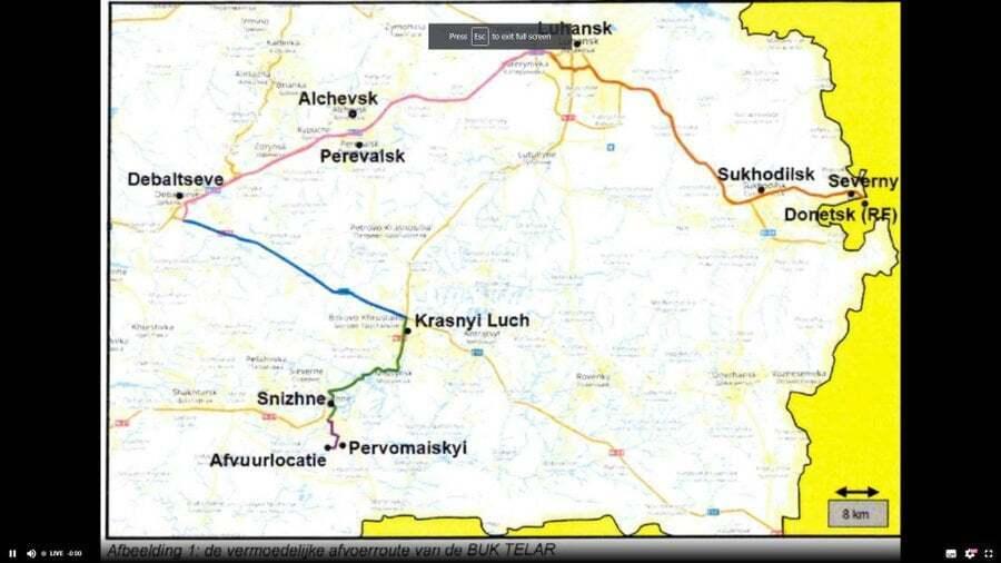 "Карта предполагаемого маршрута ""эвакуации"" ЗРК в РФ"