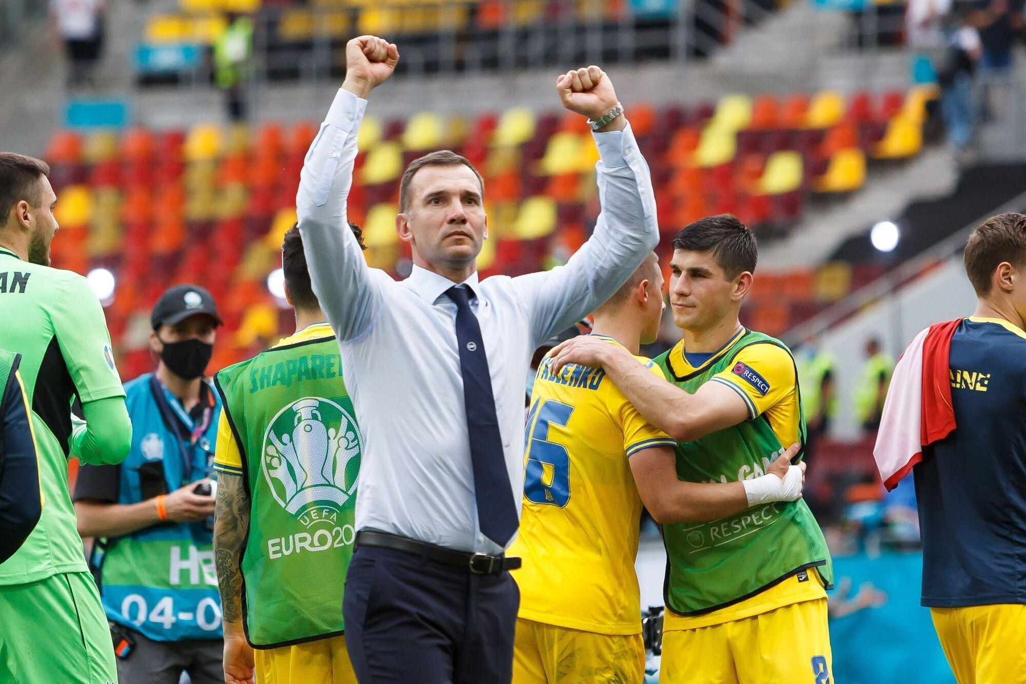 Андрей Шевченко в матче против Северной Македонии