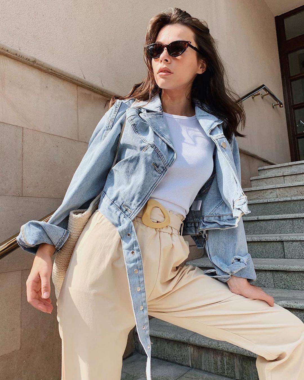 Модна укорочена джинсовка