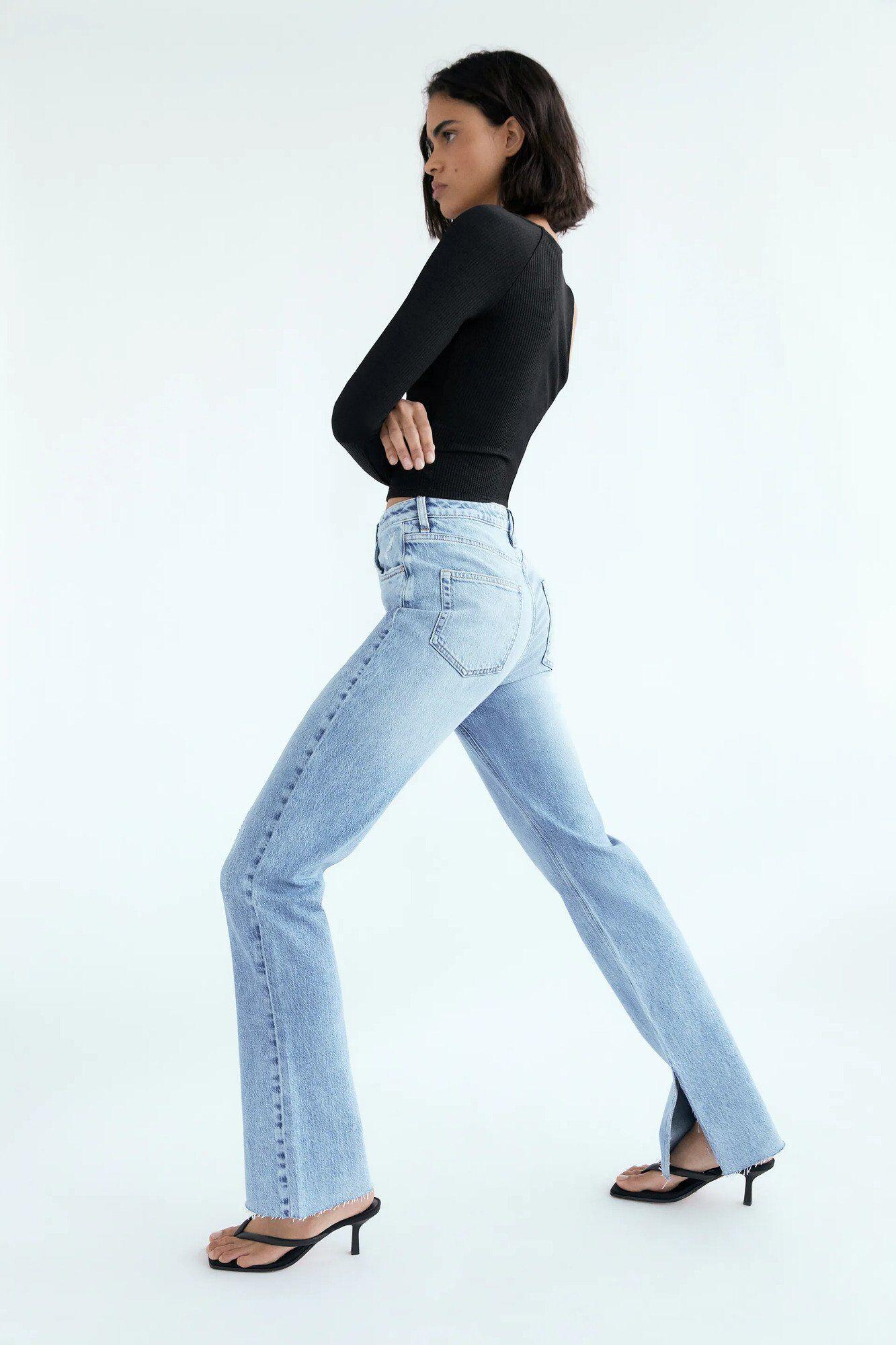 На пике популярности будут джинсы с разрезами