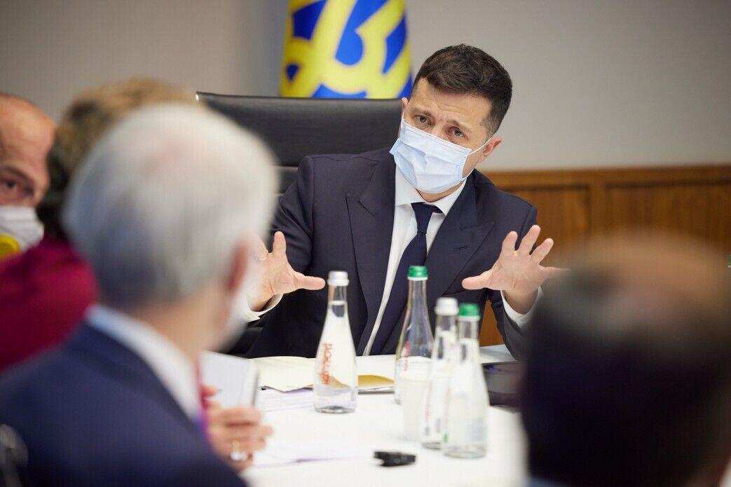 Зеленський під час переговорів
