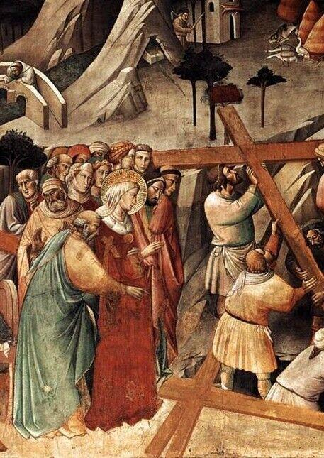 Віднайдення Животворящого Хреста Оленою в Єрусалимі. Аньоло Геді, 1380 рік