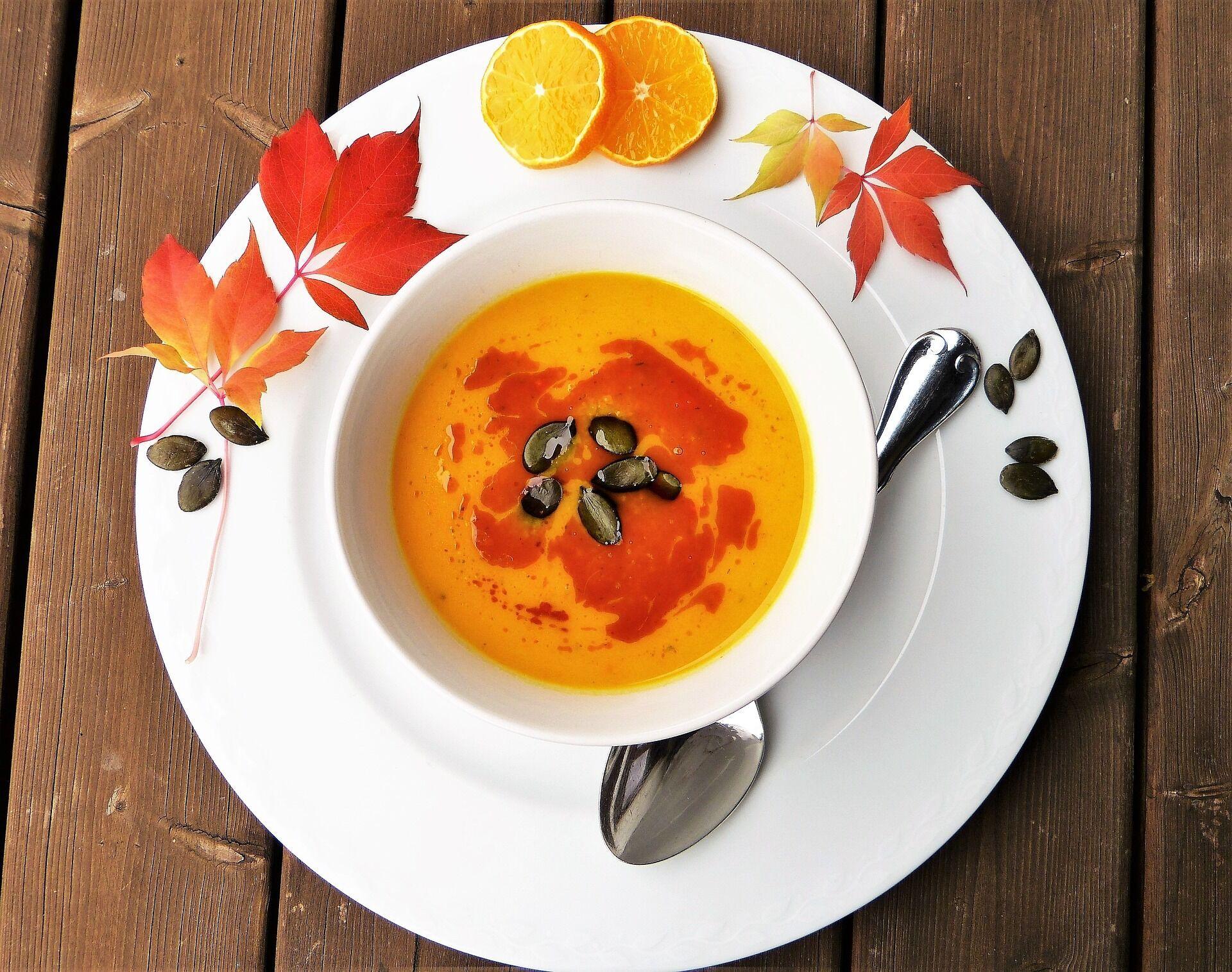 Крем-суп из тыквы и имбиря