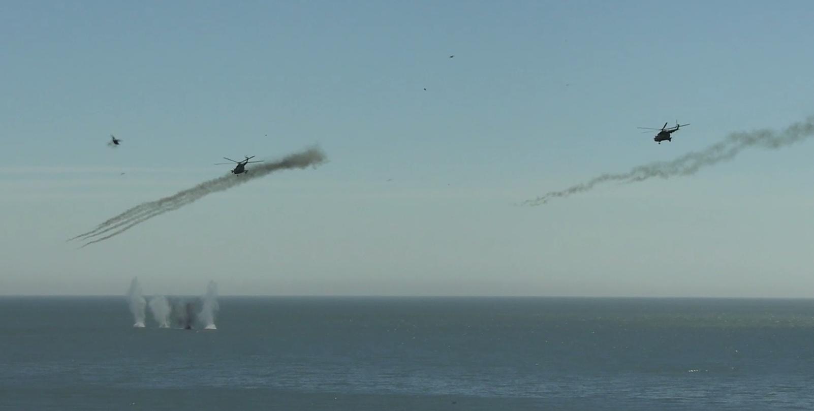 Вертольоти армійської авіації ЗСУ завдавали удару по кораблях умовного противника