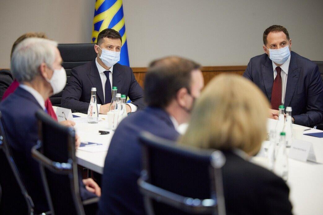 Президент і глава його офісу Андрій Єрмак