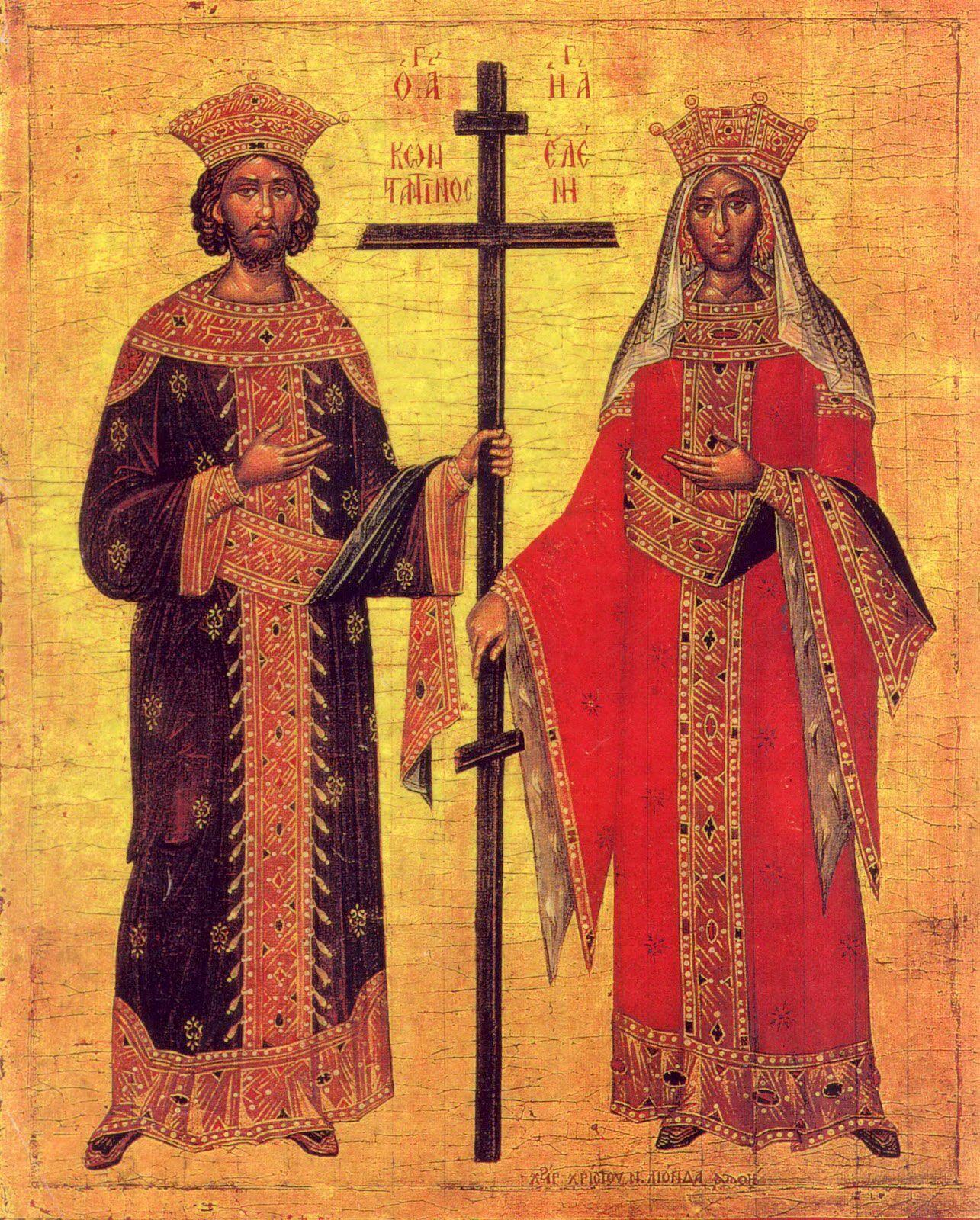 Костянтина І Великого та його матір святу царицю Олену шанують у лику рівноапостольних за великі заслуги перед церквою