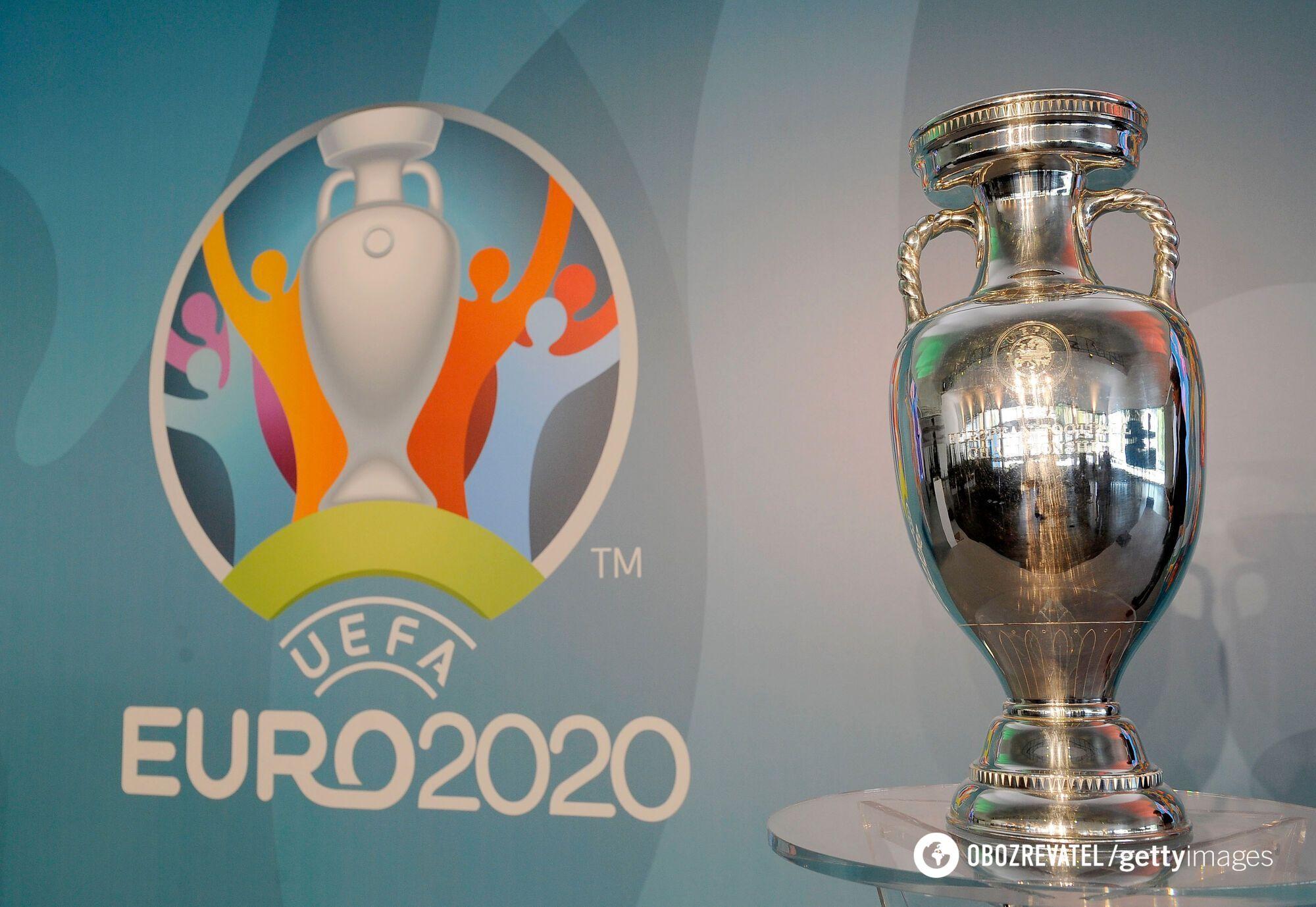 Трофей і логотип Євро-2020
