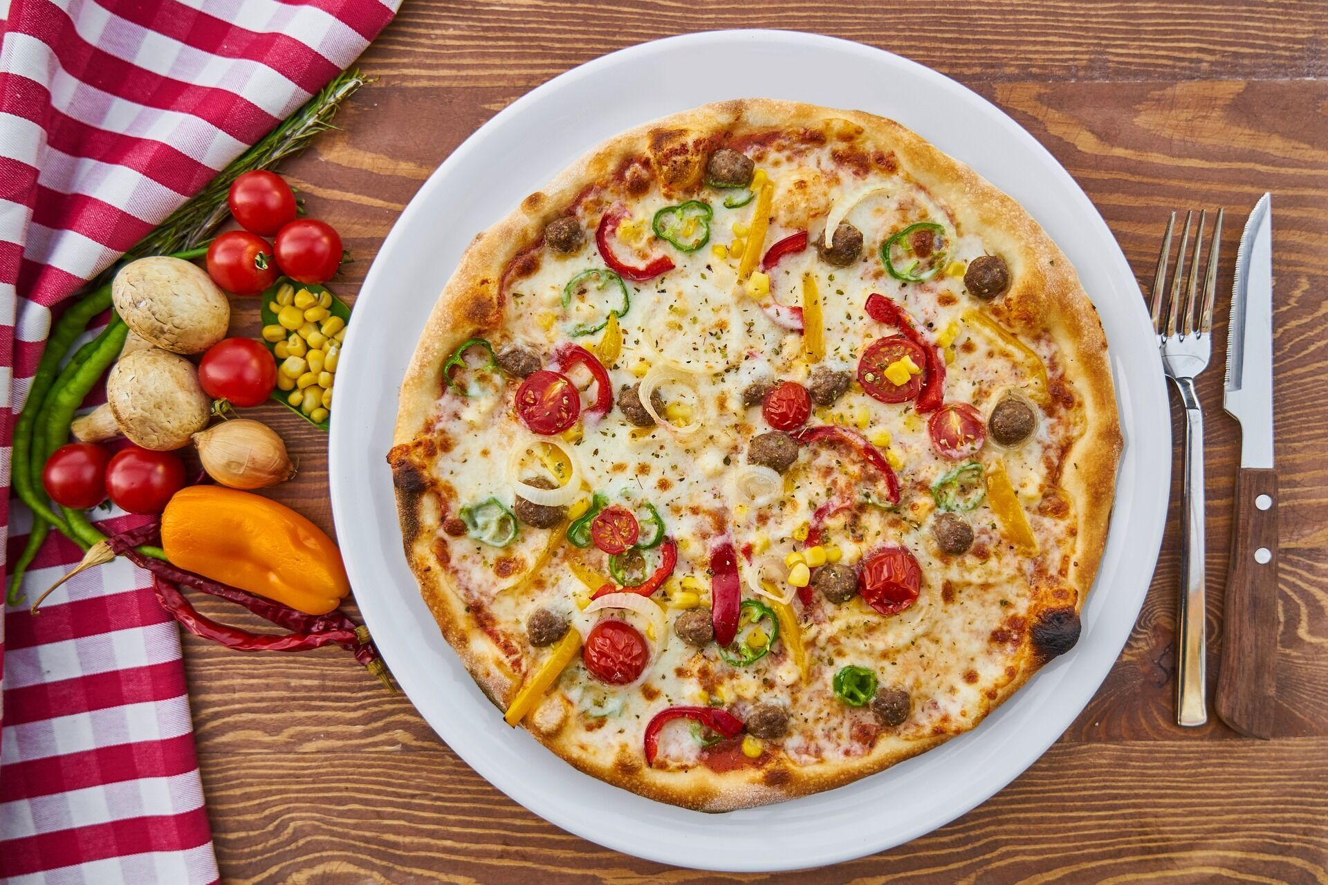 Смачна домашня піца