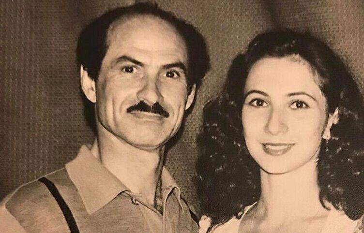 Григорий Чапкис и его дочь Лилия.