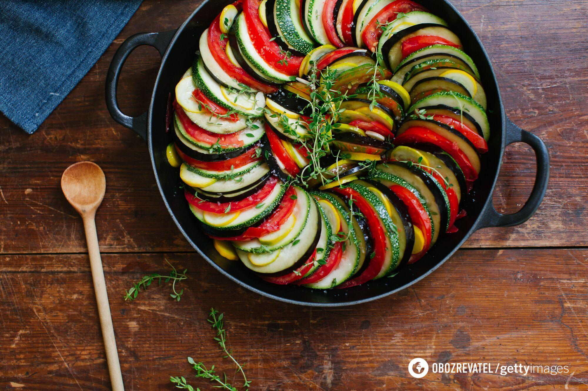 Вкусный рататуй из овощей