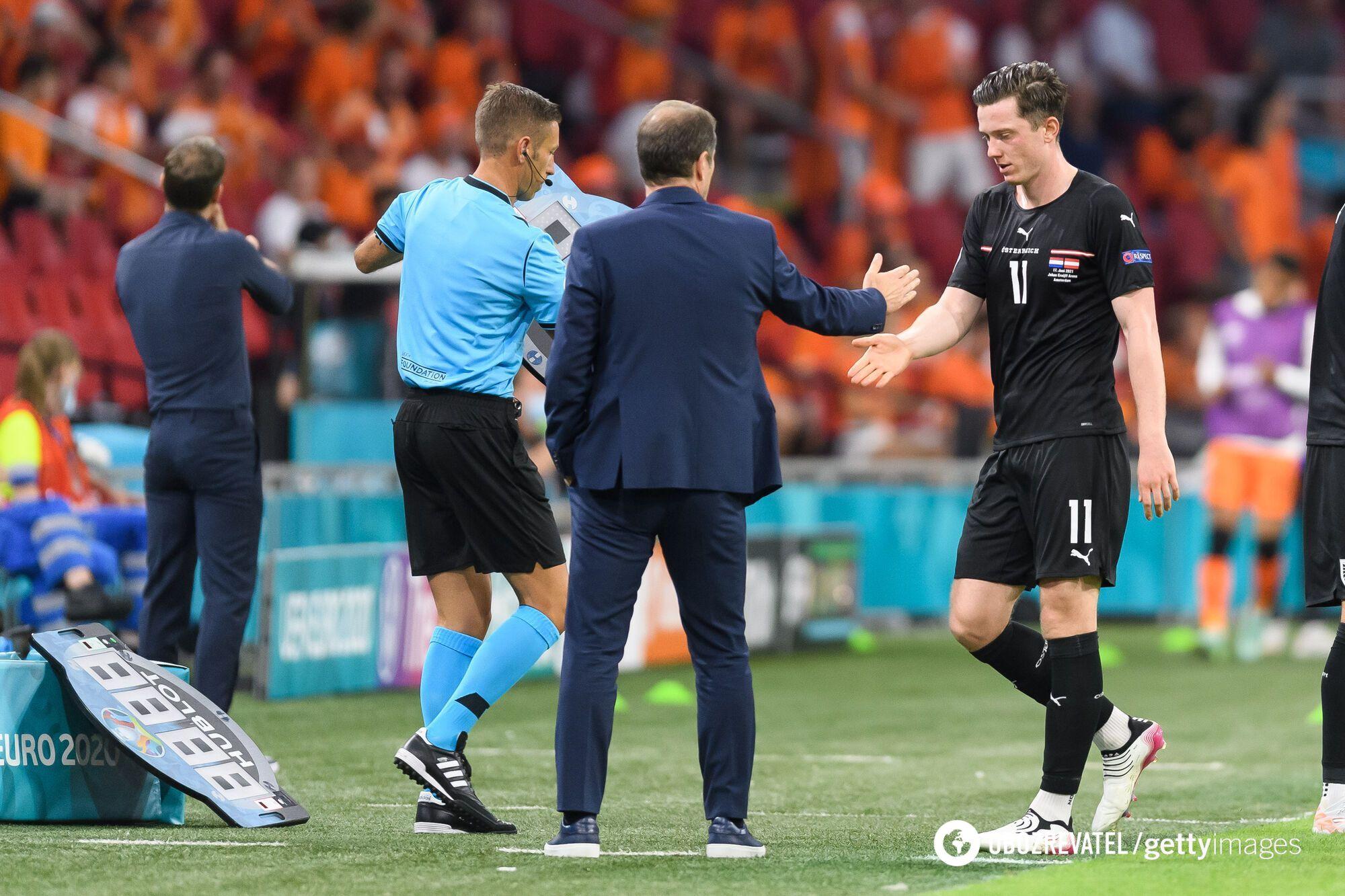 Франко Фода во время матча с Нидерландами.