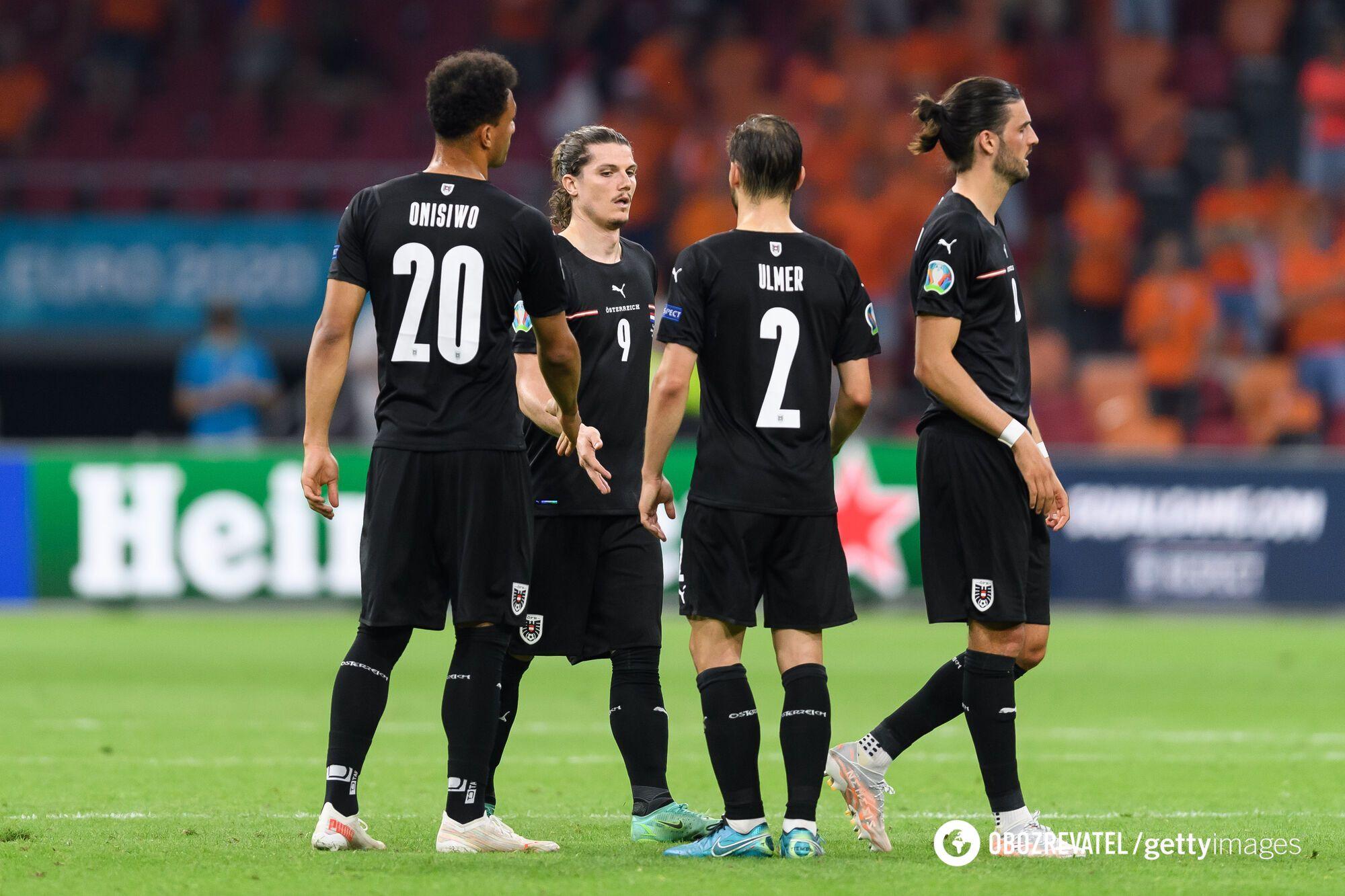 Футболисты сборной Австрии.