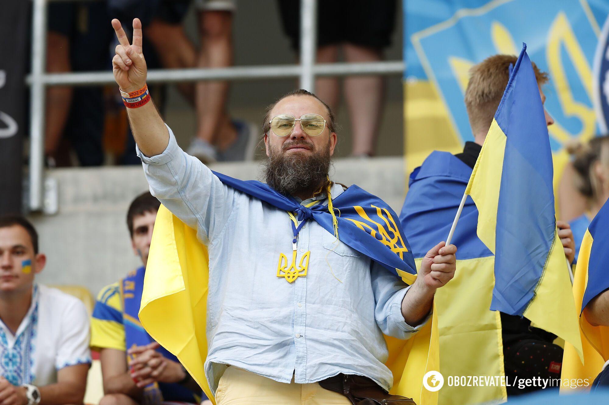 Украинский болельщик на матче Евро-2020