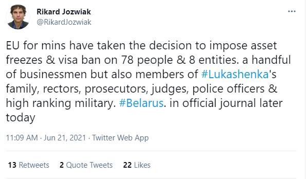 4-й пакет против режима Лукашенко.