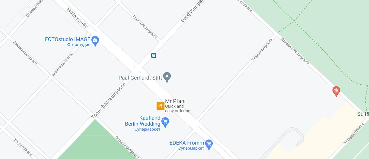 Стрельба произошла на углу Мюллерштрассе и Трансваальштрассе.