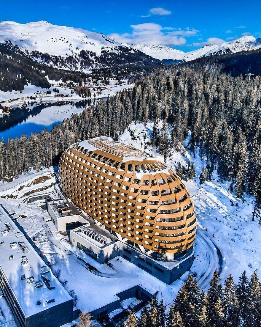 """Отель """"Intercontinental"""" в городе Давос – Швейцария."""
