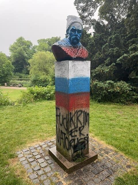 Пам'ятник Тарасу Шевченку в Копенгагені осквернили