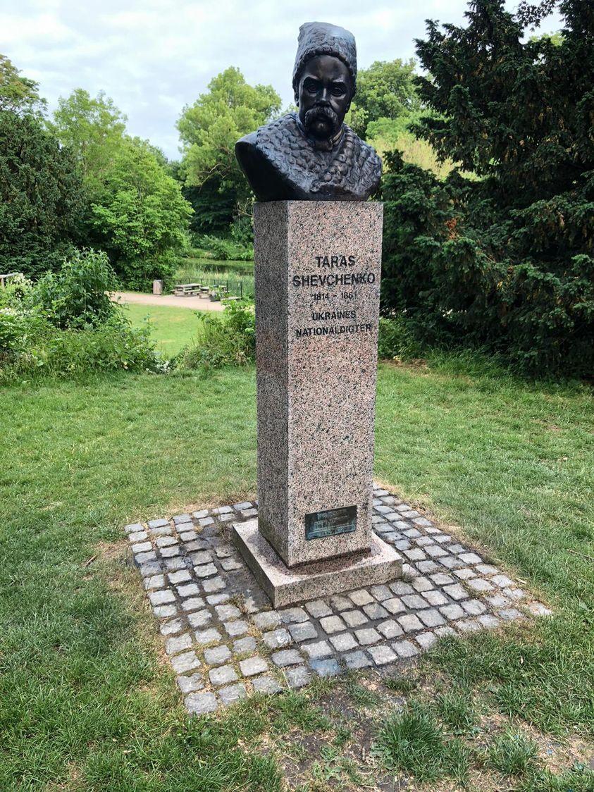 Відновлений бюст Тараса Шевченка в Копенгагені