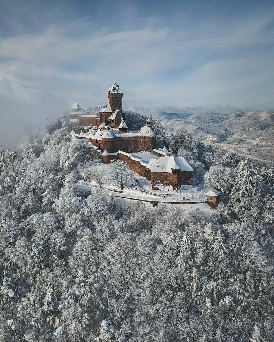 Верхний Кенигсбург – средневековый замок во Франции.