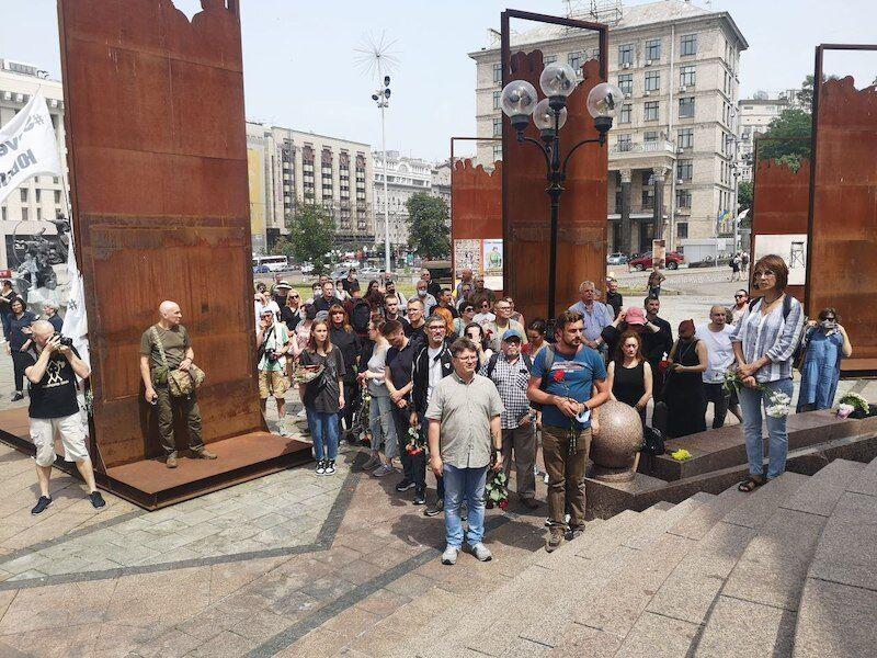 Церемонія прощання пройшла на Майдані Незалежності