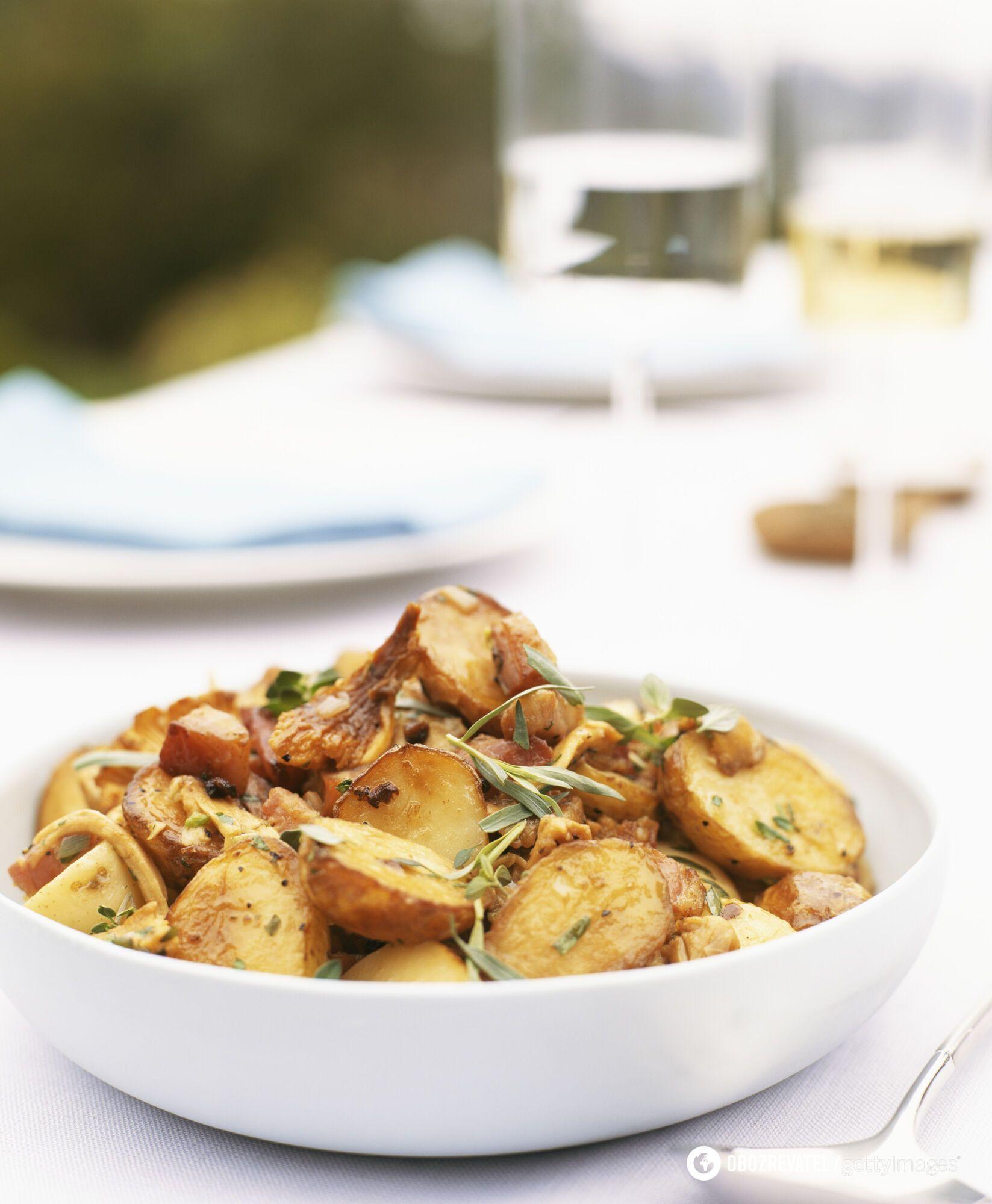 Картошку можно использовать для этого блюда вчерашнюю